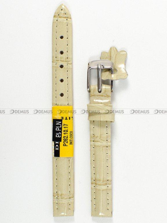 cb421f7addc379 Skórzany pasek do zegarka Diloy P262.10.17, 10 mm, Beżowy - sklep ...