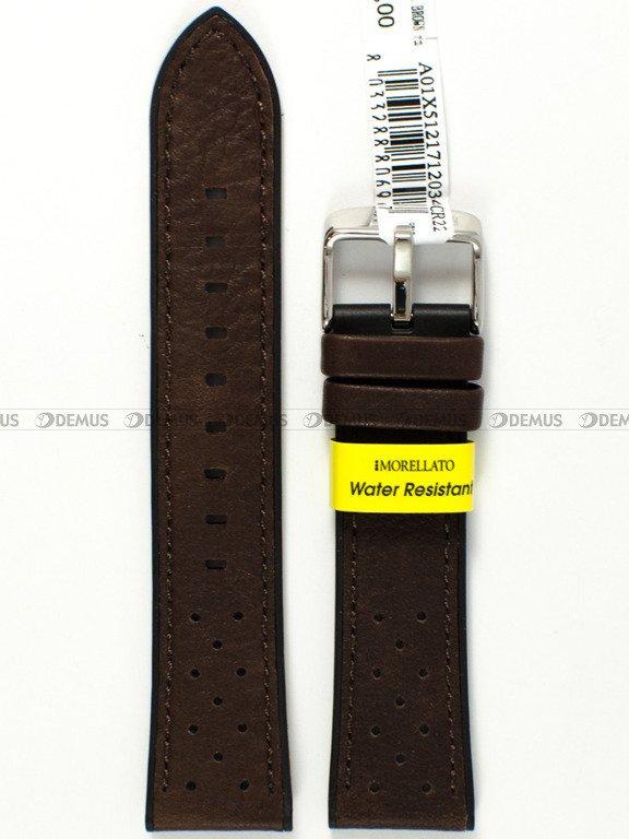 2d8a1b6b6a27d2 ... Skórzano-gumowy pasek do zegarka Morellato A01X5121712034CR22, 22 mm,  Brązowy, Czarny ...
