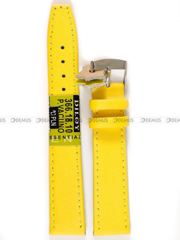 8f9002835bfdc5 Skórzany pasek do zegarka Diloy 366.18.10 v2, 18 mm, Żółty - sklep ...