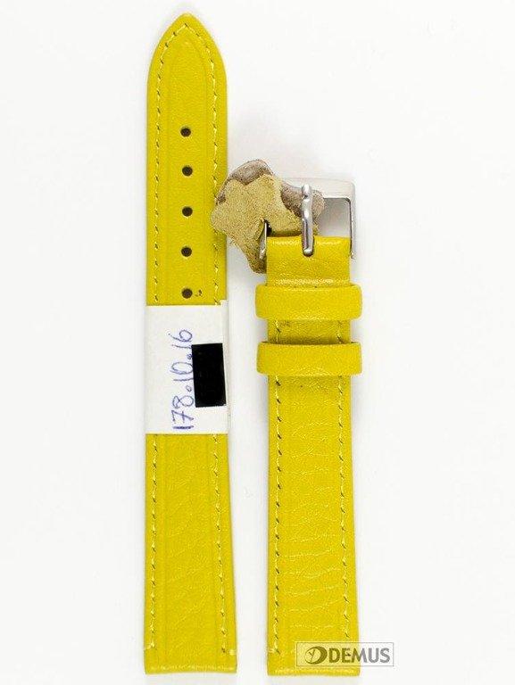 5aa131f898cd23 Skórzany pasek do zegarka Diloy P178.16.10, 16 mm, Żółty - sklep ...