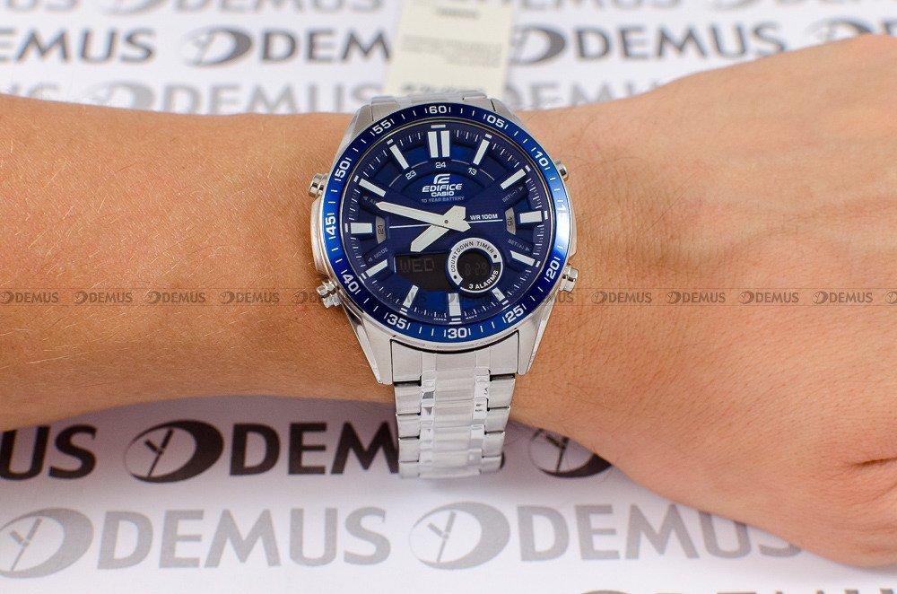 Zegarek Casio EDIFICE Chronograph EFV C100D 2AVEF Męski, Kwarcowy, Wskazówkowo Elektroniczny