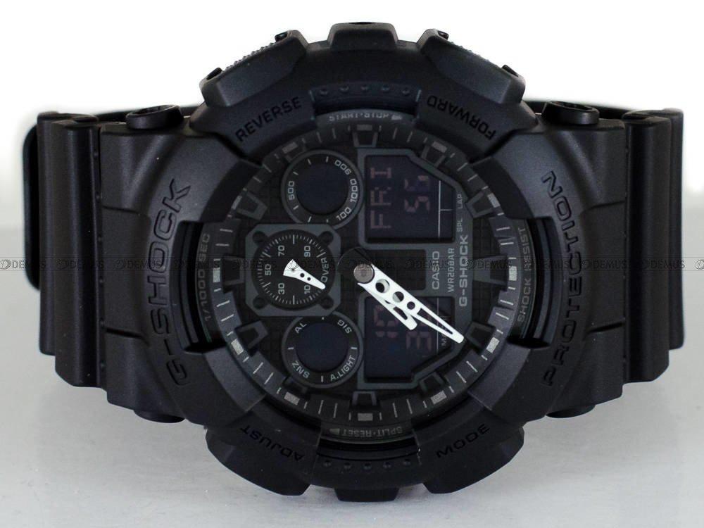 Zegarek Casio G Shock GA 100 1A1ER Męski, Kwarcowy, Wskazówkowo Elektroniczny